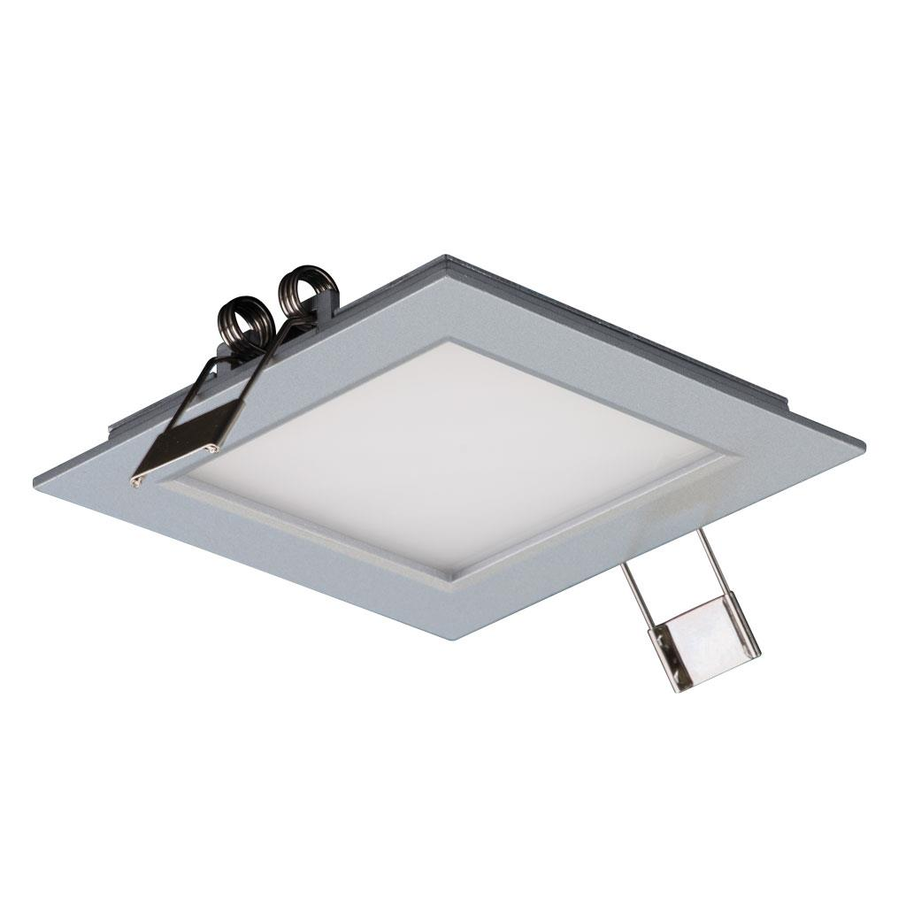Panel Light Panel 101 Square 3w Led Panel Light Silver Frame Warm