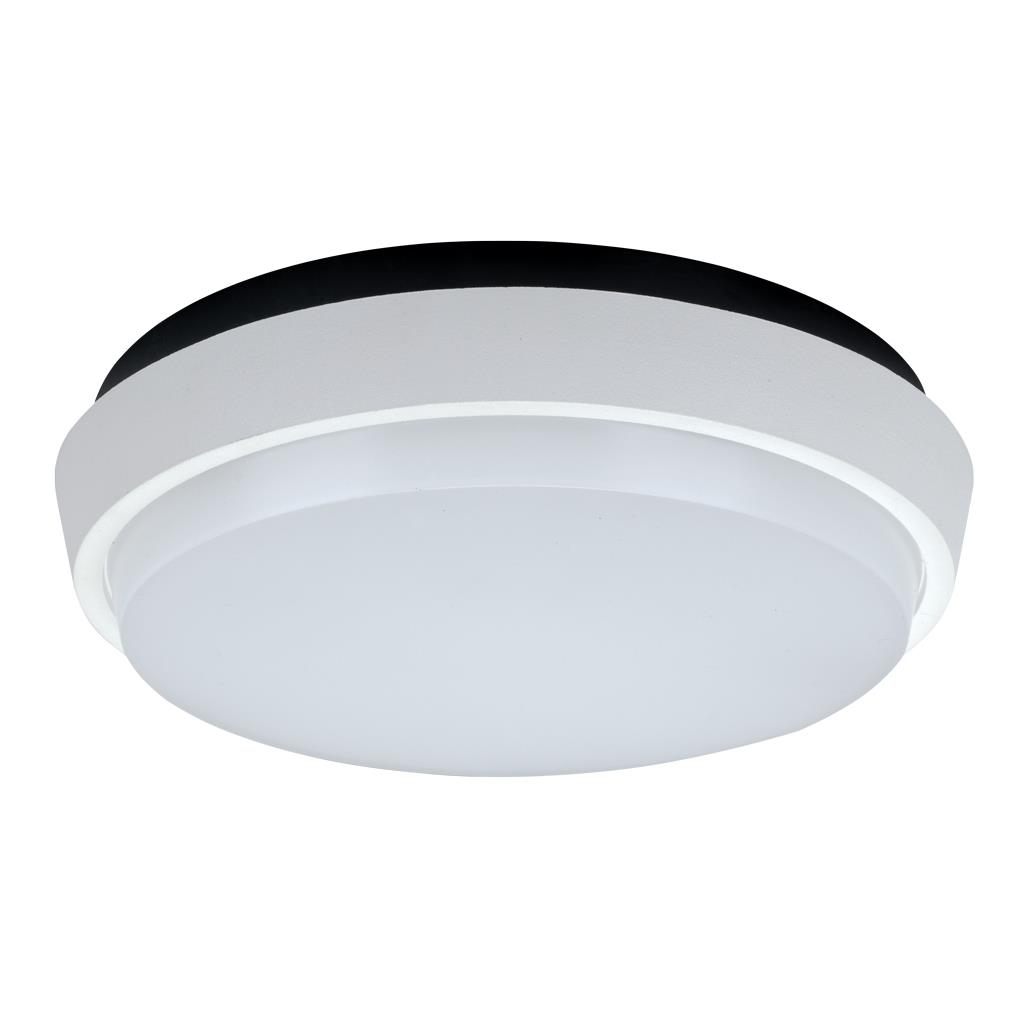 Decorative Ceiling Discs Disc 240 Round 20w Splashproof Led Ceiling Light Satin