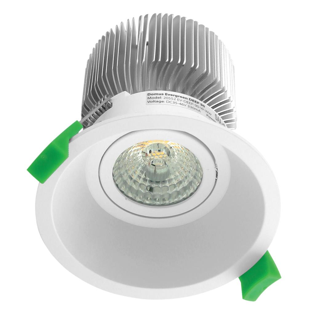 Led Downlights Au Deep 90 Round 13w Deepset Led Downlight White Frame