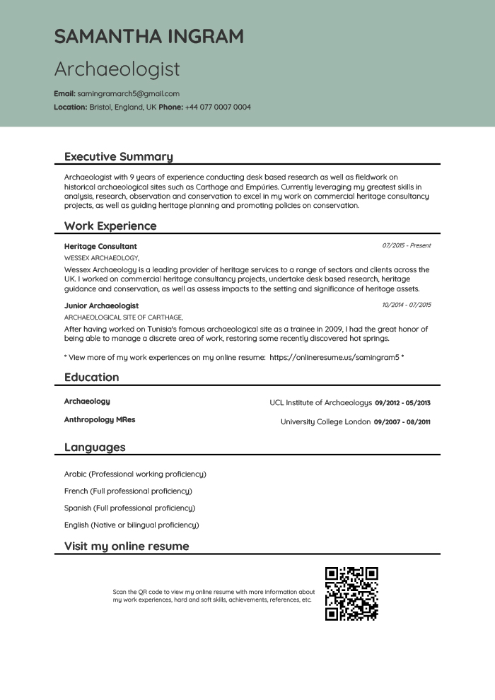 Online Resume and PDF Resume Creator - OnlineResume