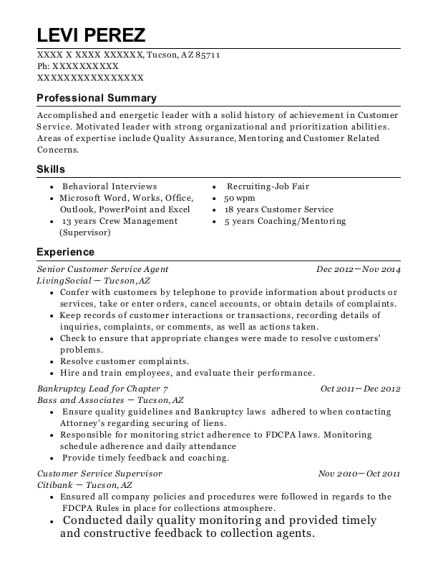 popeyes resume sample