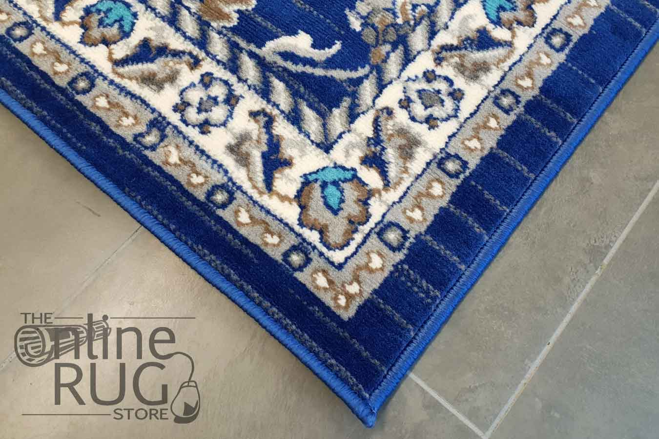 Online Rugs Austine Navy Blue Transitional Oriental Rug The Online