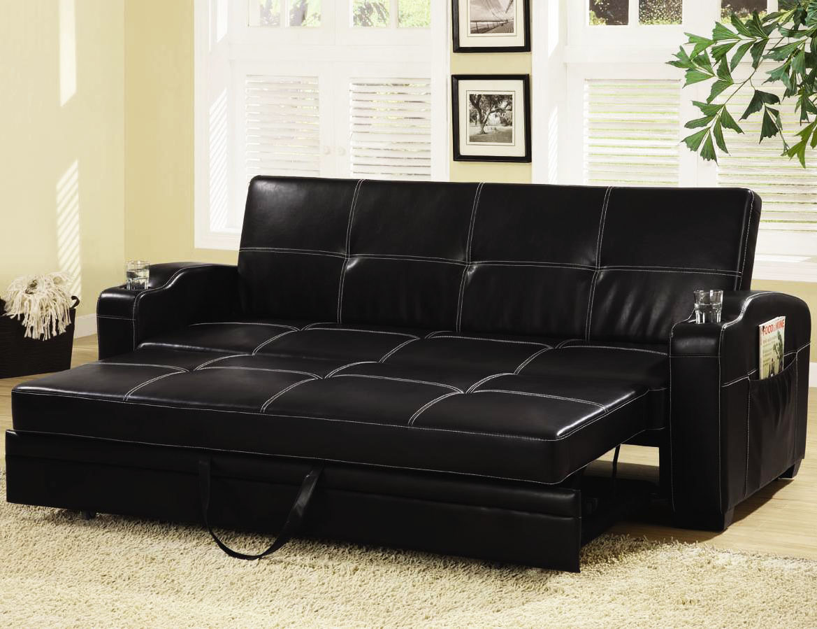 Buy Sofa Bed Online Buy Black Color Leather Sofa Bed Online In Mumbai At