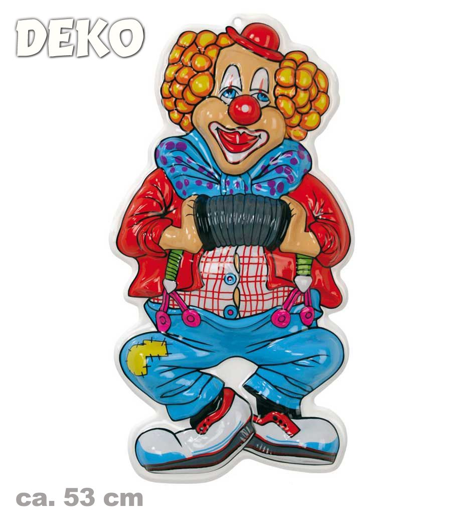 Wanddeko Clown Wand Deko Clown Musik Ca 53 Cm Hoch