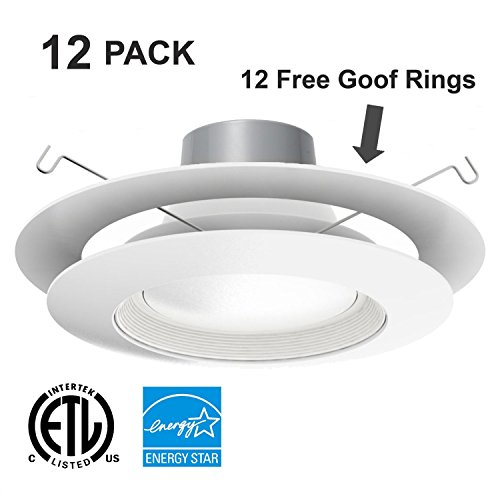 Juno Recessed Lighting Trim 6′ Inch White Baffle Recessed Can Light Trim Replaces Halo
