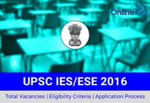 UPSC IES Indian Engineering Services 2016