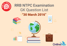 RRB-NTPC-GK-Exam-Questions-30-March-2016