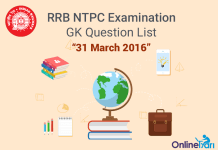 RRB-NTPC-GK-Exam-Questions-31-March-2016