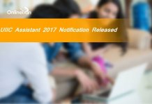UIIC Assistant 2017 Notification Released: Check Here