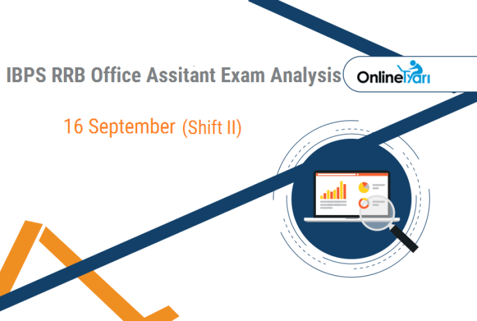 IBPS RRB Assistant Prelims Exam Analysis   16th September (Shift 2)