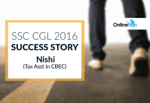 SSC CGL 2016 Success Story: Nishi (Tax Asst in CBEC)