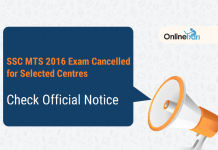 SSC MTS 2016 Exam Cancelled for Selected Centres: Check Official Notice