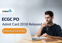 ECGC PO Admit Card 2018 Released: Download Call Letter