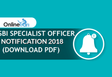 SBI SO Notification 2018 | Specialist Officer Recruitment (Download PDF)