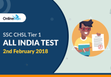 SSC CHSL Tier 1 All India Test (AIT) | 2nd February 2018