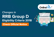Changes in RRB Group D Eligibility Criteria 2018: Check Official Notice