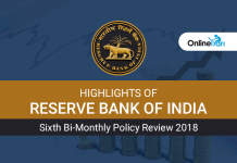 Highlights of RBI Sixth Bi-Monthly Policy Review 2018