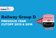 Railway Group D Previous Year Cutoff: 2013 & 2014