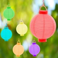 6 Farben Papierlaterne LED Lampion Lampions Laterne Garten