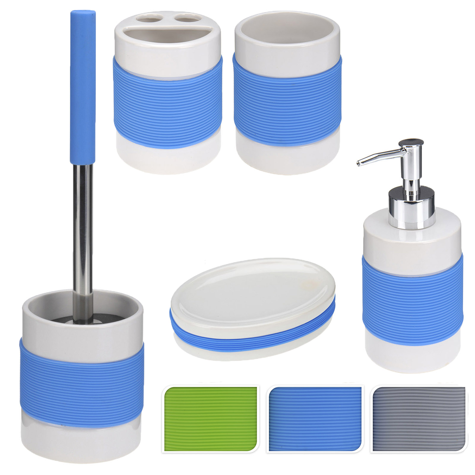 Soap Dispenser Sets Bathroom Accessories Set Silicone Toilet Cleaning Brush