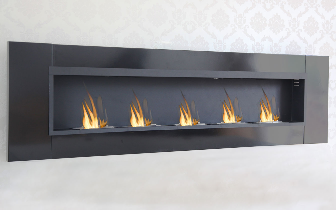 Cheminee Ethanol Gaz 5 Burner Luxury Chimney Bio Ethanol Gel Fireplace Wall