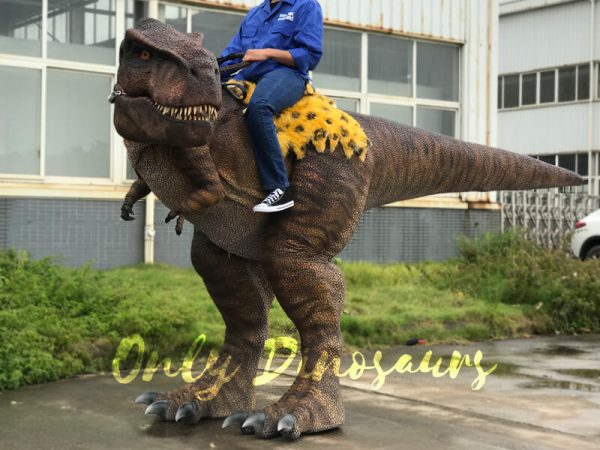 T-Rex-riding-Dinosaur-Costume-On-Stilts2