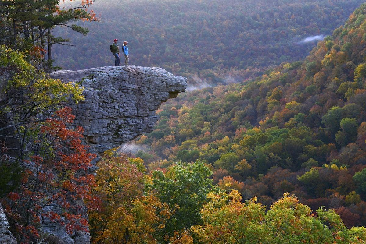 Beautiful Fall Scenery Wallpaper Arkansas S Well Known Hiking Destination Whitaker Point
