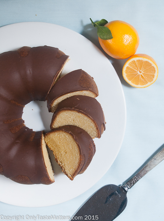 Meyer Lemon Bundt with Chocolate Rum Icing. #GFbaking #recipe #ontheblog