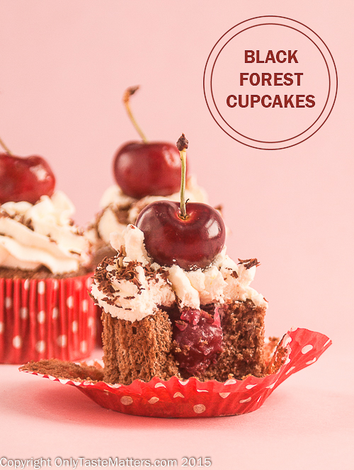Genuine German Black Forest cake but in a cupcake. #Gfree