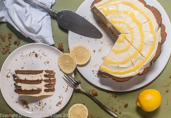 Make a Lemon Ginger Icebox Cake & impress your guests without turning on the oven! #gfree