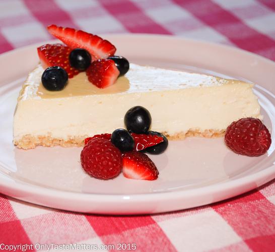 Chef Melanie Underwood's New York Style Cheesecake With a Ground Almond Crust