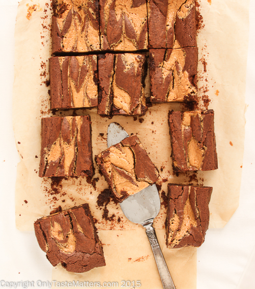 Peanut Butter Swirl Brownies #gfree