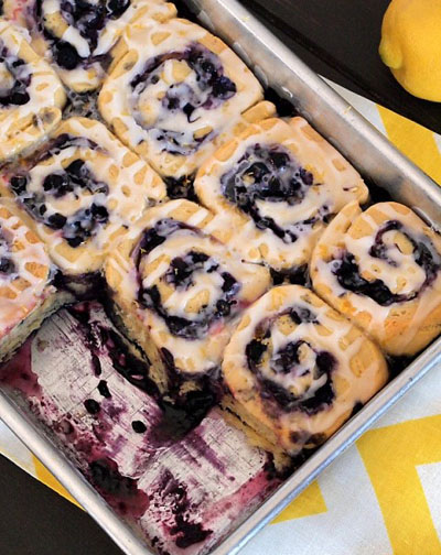 Gluten Free Blueberry Sweet Rolls from Faithfully Gluten Free