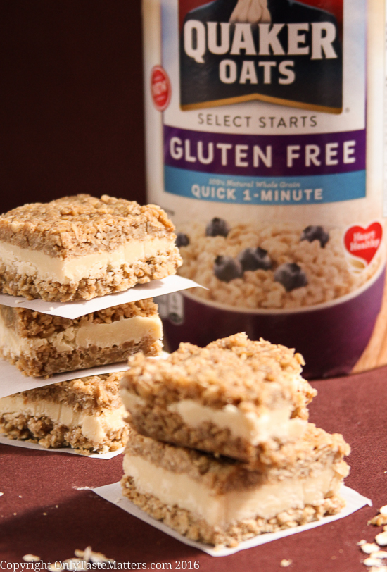 No-Bake Maple & Brown Sugar Bars made with Quaker Gluten-Free Quick 1-Minute Oats