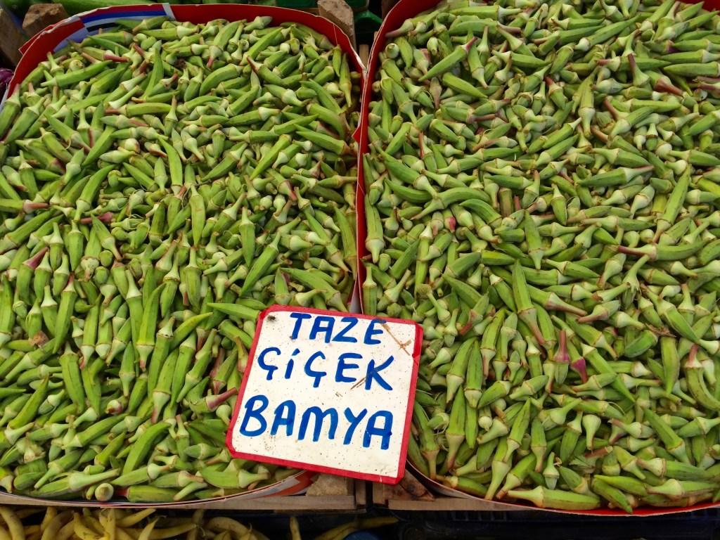 Bamya - okra, used in soups, fresh and dried