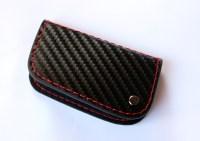 Genuime Carbon Fiber Leather Smart Remote Start Key Fob ...