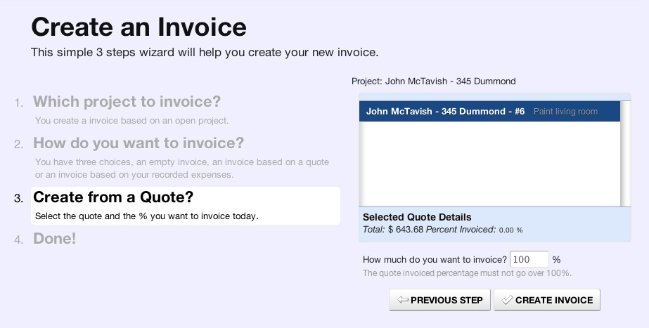 Simple quotes  estimates - Fast cost jobs - One click invoice for