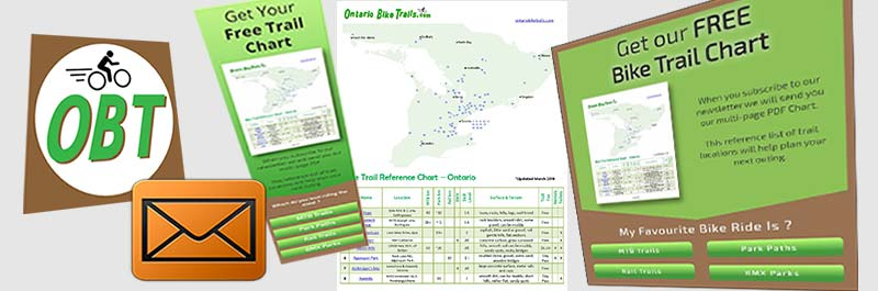 Our Free Bike Trail Reference Chart - Ontario Bike Trails