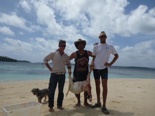 brianna randall rob roberts resort tonga beach vacation hunting goats