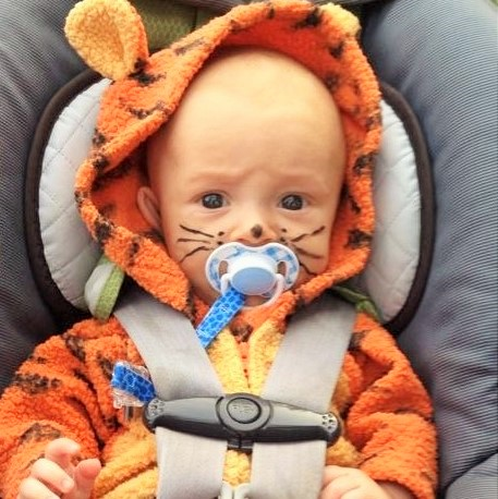 talon as tigger on halloween