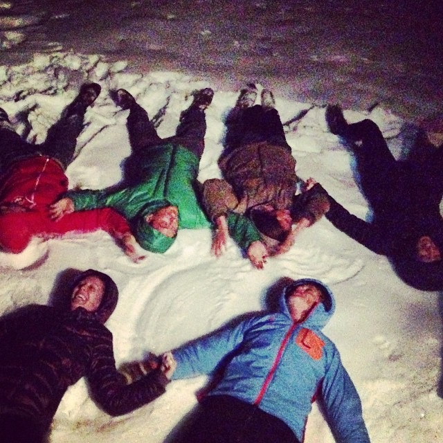 misadventures in modern parenting with snow angels