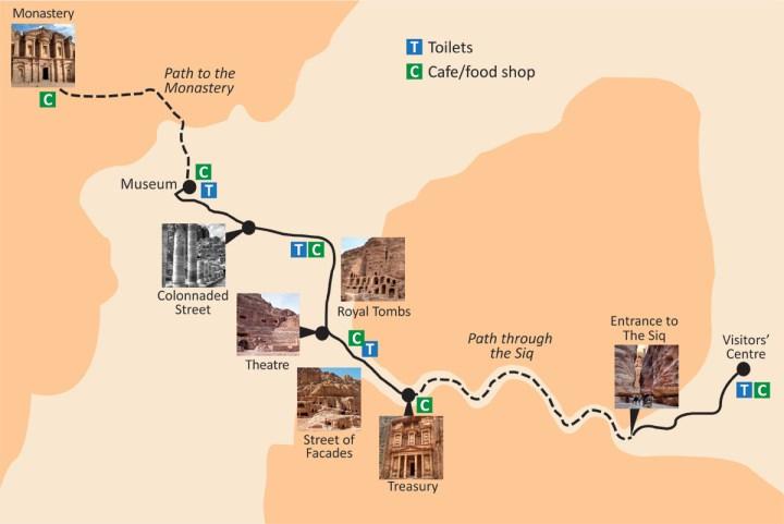 Map of Petra, Jordan