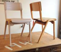 Vintage School Chairs (Lilac)  On The Square Emporium