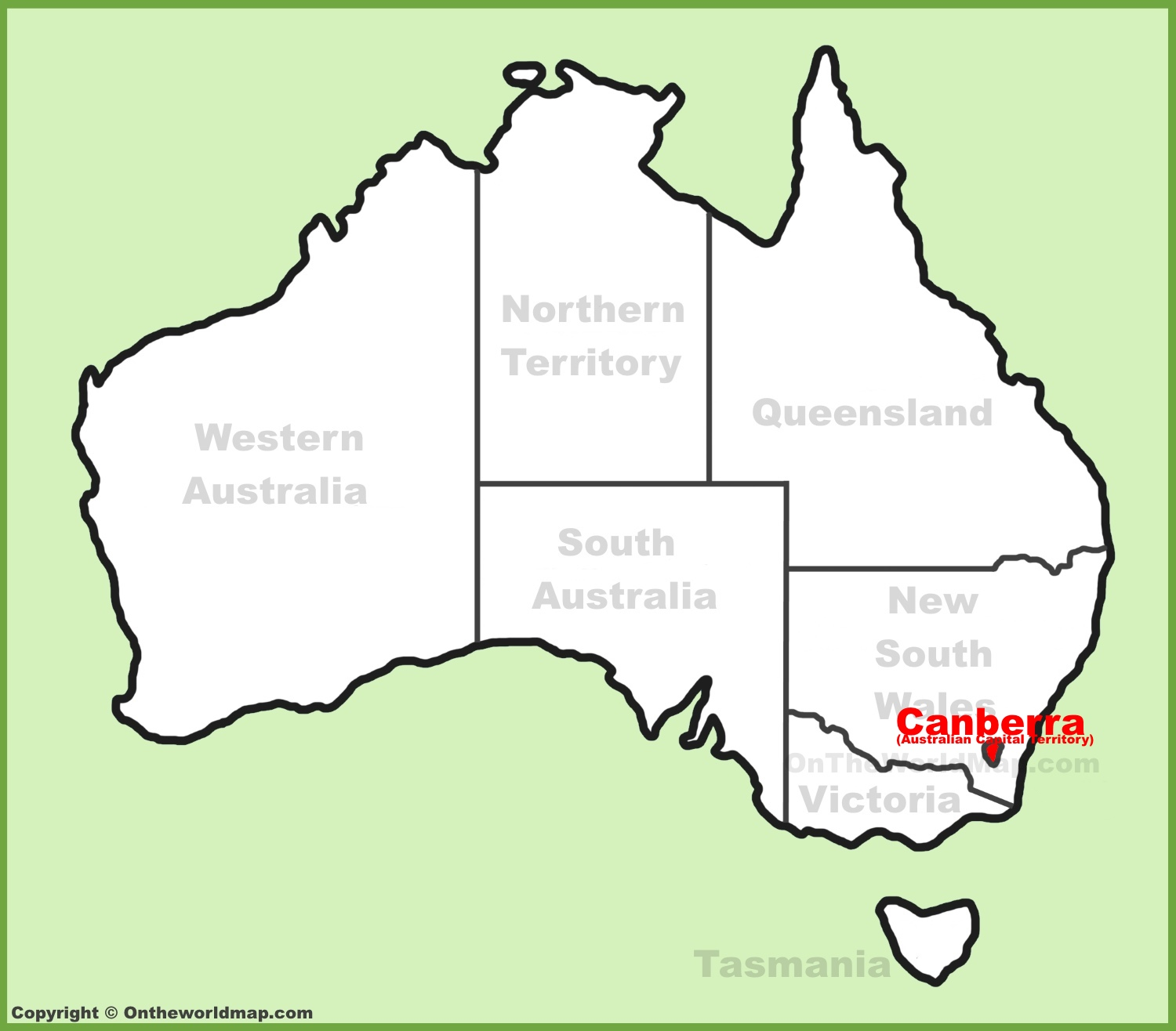 Map Of Canberra Canberra Maps Australia Maps Of Canberra Capital City Of