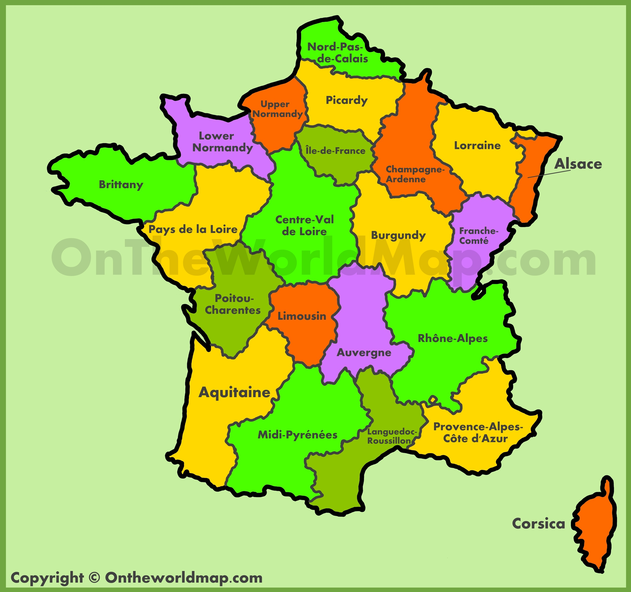 Regions De France Map Of Old Regions Of France Old Administrative Map Of France