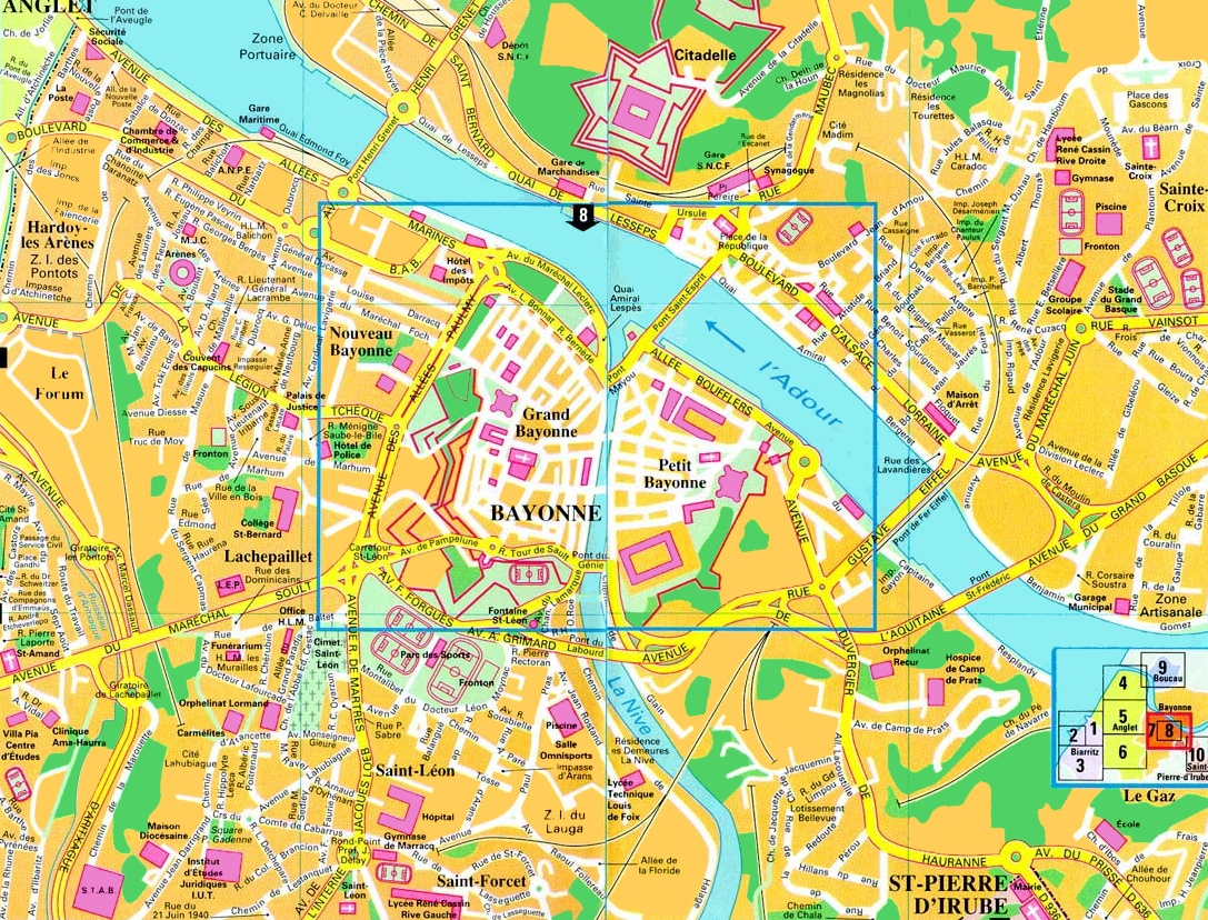 Antibes To Toulon Bayonne Tourist Map