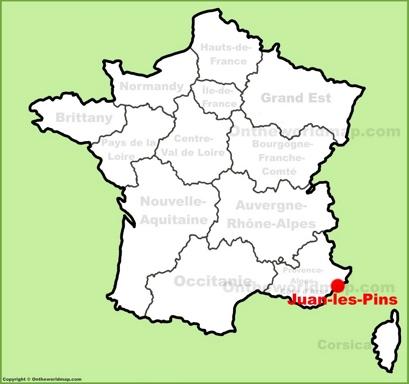 Juan-les-Pins Maps France Maps of Juan-les-Pins  - pins on a map