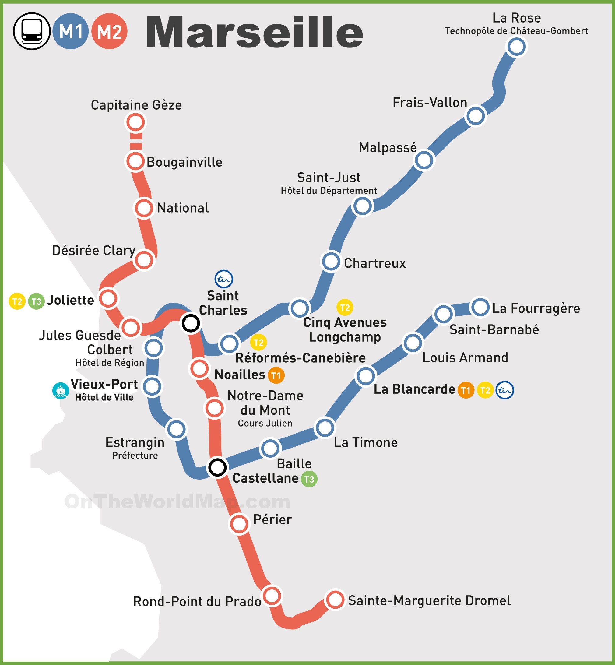 Bus Toulon Marseille Marseille Metro Map