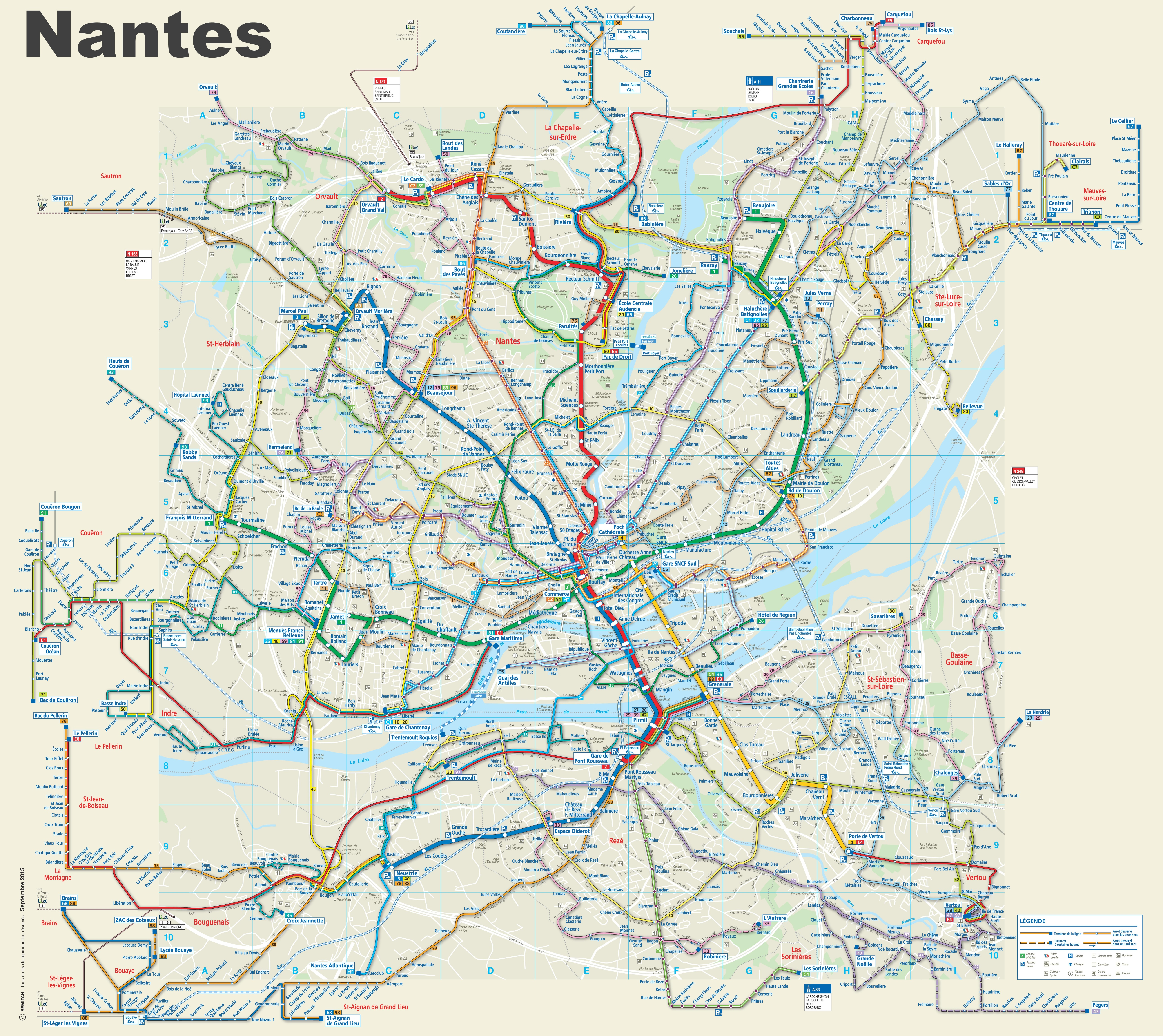 Bus Poitiers Nantes Nantes Transport Map