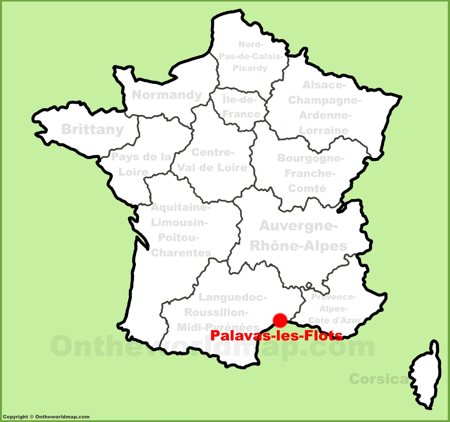 Les Location Palavas Les Flots Location On The France Map